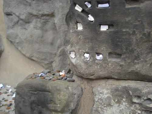 Rocks and notes left on graves