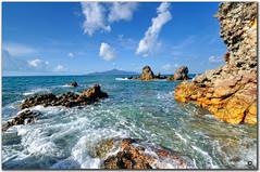 sibu island - rocky shoreline (fiftymm99) Tags: island volcano nikon rocky malaysia colourful pulau sibu tiomanisland rockyshoreline sibuisland pulausibu fiftymm nikond300 fiftymm99 pulausibumalaysia volcanolavas sibuislandmalaysia
