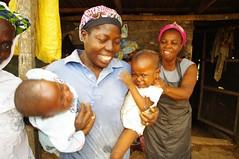 Women and children at cassava processing center Onipepeye Ibadan (IITA Image Library) Tags: cassava manihotesculenta ibadannigeria cassavaprocessing