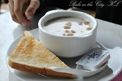 Boh Plantation, Sg Palas - mushroom soup (RM5)