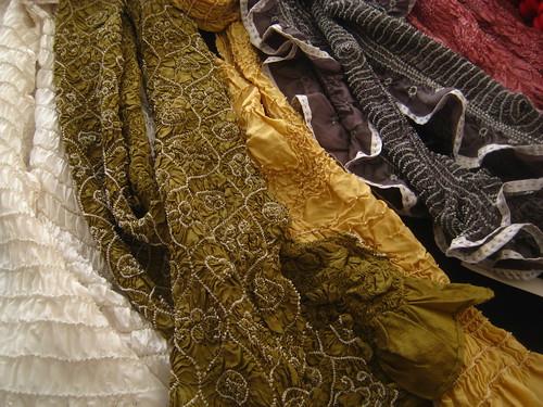 textile vendor's wares