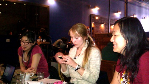 Esther, Sophia, and Christine at PyLadies meetup