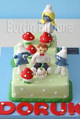 Sirinler Pastasi (burcinbirdane) Tags: cake smurfs the