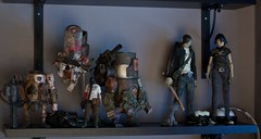 One of my Ashley Wood shelves (dangercorpse) Tags: toy actionfigure doll 3a 16 medic armstrong 112 bramble nomdeplume modchip wwr ashleywood desertcombat littleshadow wwrp worldwarrobot threea largemartin adventurekartel worldwarrobotportable tommymission