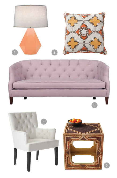lilac+peach+room+inspiration+office+livingroom