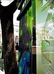 Spanish Revolution V (Madrid) (Seigar) Tags: madrid spain españa theblueheartbeat canon canong11 green reflejo reflection different diferente travel trip journey viajar viaje viajero travelling traveller beauty belleza bonito nice reflejos reflections otra realidad reality prisma efectoespejo misello theblueheart mirror espejo visión vision visionado reflect reflejar seigar
