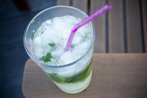 Mojito with mint & lime from my garden