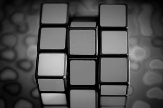 Rubik's Magical Cube...in shades of grey!