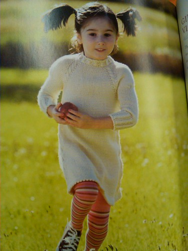 Cabled raglan dress from pure knits