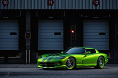 on a scale to TEN... (ojsantiago21) Tags: nikon dodge viper ssg hre d300 alienbees rt10 automotivephotographer ojsantiago snakeskingreen cybersync