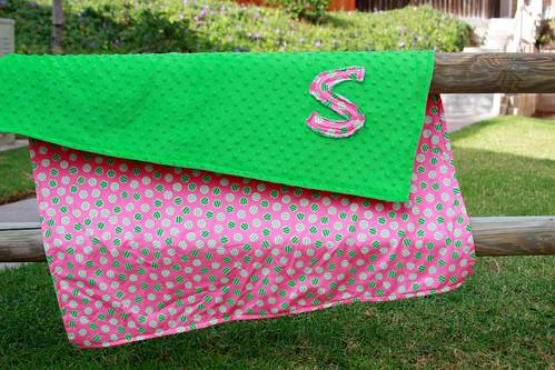 Minky Initial Blanket