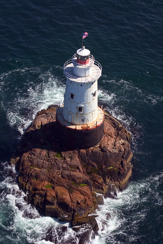 Sakonnet Lighthouse, Rhode Island - aerial