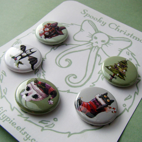 Spooky Christmas Pin Set