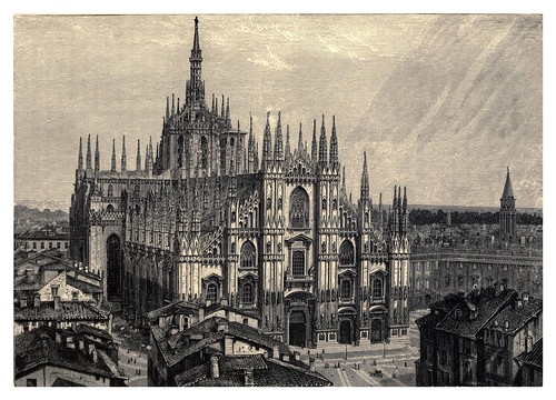 036-Catedral de Milan-Italian pictures drawn with pen and pencil 1878