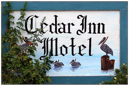 Cedar Inn Motel Sign