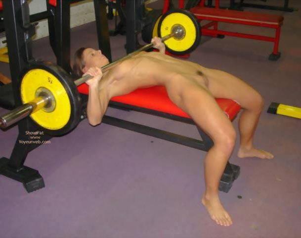 Naked women weight lifter 6
