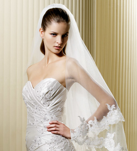 Luxurious wedding dresses with embroidery.