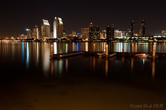 Dock Light (Nick Chill Photography) Tags: california city reflection art water skyline night print boats photography lights bay dock nikon glow bright image sandiego fineart stock nightlife alive coronado dx d90 nickchill