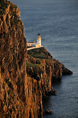 Neist Point Lighthouse at sunset, the Isle of Skye, Scotland (iancowe) Tags: lighthouse west skye point scotland scottish stevenson minch isle westerly neist mywinners platinumphoto wbnawgbsct