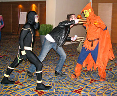20090905-IMG_1642 (DuckPuppy) Tags: costume spiderman cyclops dragoncon wolverine hobgoblin