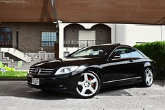 (Talal Al-Mtn) Tags: auto blue black green garden gold automobile automotive sl mercedesbenz automatic kuwait rims 2008 mb cl v8 amg cls q8 v12 kwt lm10 inkuwait talalalmtn  bytalalalmtn