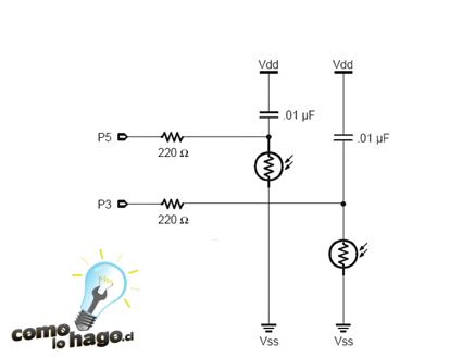 Diagrama del circuito de fotorresistencias