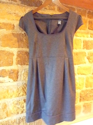 French connection grey wool dress
