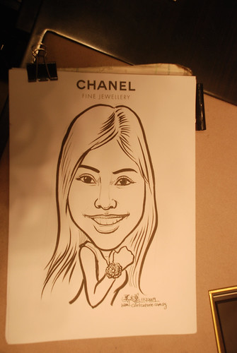 Caricature live sketching for Chanel Day 2 - 12a