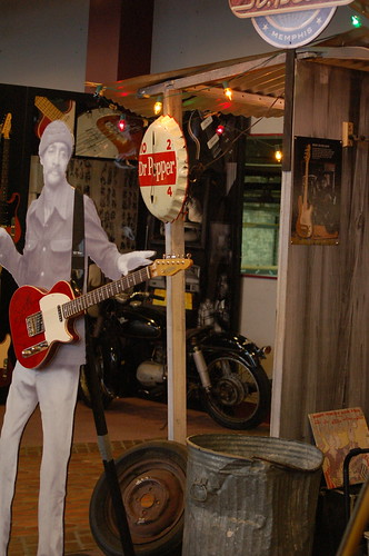 Even the cardboard cutouts can play at St. Blues Guitar Workshop