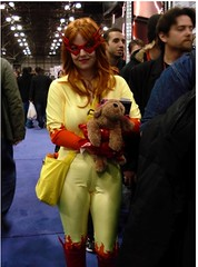 2009 NYCC Comic Con Firestar (amber-the-stylist) Tags: comics jones costume women cosplay spiderman xmen superhero marvel comiccon angelica mutants firestar javits nycc amazingfriends misslion mslion