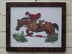 Springend paard (Moemoe Vetje) Tags: crossstitch embroidery kruissteek naaiwerk