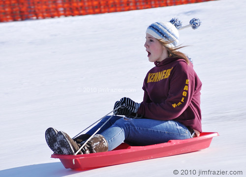 Sledding on Rotary Hill