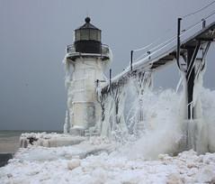 Waves of Winter (Jeff Meeker) Tags: light white snow ice river waves michigan january stjoseph lakemichigan blizzard coated tlc bentonharbor theworldwelivein theworldoutdoors