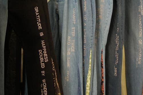 A rack of Thigh High Jeans, Memphis, Tenn.