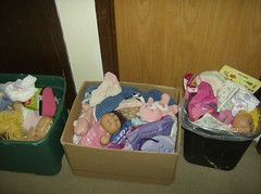 Pile of outgrown toys (garbagebabe42) Tags: birthday bear christmas family friends food dog baby house flower green art abandoned beach me wet girl childhood animals trash dumpster training cat toy moving kid bed garbage doll princess flood garage ashley bears barbie away move dirty diaper cleaning poop cabbage cheer diapers cabbagepatchdoll cabbagepatchkid lint dailyphoto crushed potty throw goodwill tonne pampers landfill pail trashed donate garbagetruck throwaway kotex pullups bedwetter huggies luvs cleanout teadybear diaperpail declutter roomcleaning idontloveyouanymore goodnites