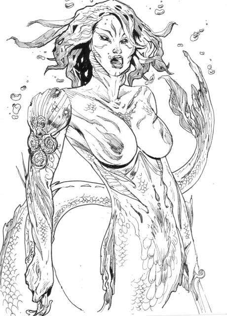 mer-woman rocketraygun