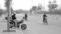 Ready to go in Beijing (Cory M. Grenier) Tags: ducati ducatimonster modernchina beijingstreet