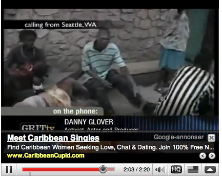 Inapproriate Google ads - Haiti disaster 05