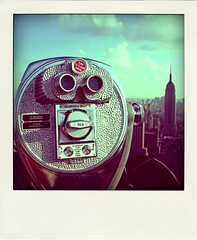 Room with a view (MademoiselleChipotte) Tags: voyage above city nyc travel panorama newyork view manhattan fake panoramic abroad empire instant empirestatebuilding effect pola poladroid polaroidlike