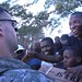 U.S. troops bring food to survivor camp in Haiti