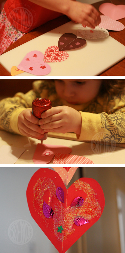 decorating paper hearts