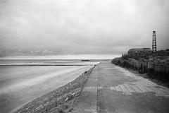 hundius (parthagas) Tags: sea bw film beach analog 35mm belgium bunker northsea ww2 sw oostende pillbox canoscan8600f bwfp