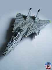 Tophatters F-14A Tomcat (8) (Mad physicist) Tags: model fighter lego aircraft military usnavy tomcat 136 ussenterprise grumman f14a tophatters