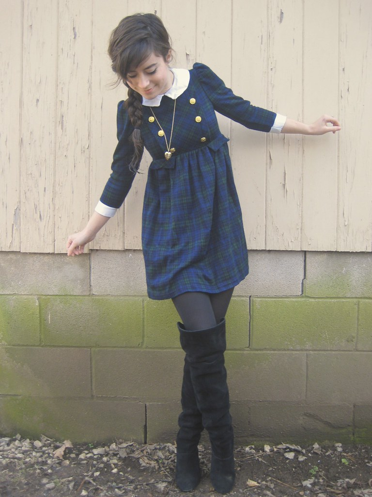 military dress and black boots