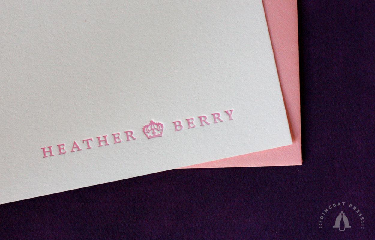 Heather Berry, Signature Dingbat A6 Letterpress Notes