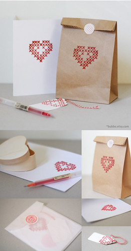 letterpress gift wrap set / my shop