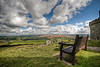 A Restful View (_ justintheframe_) Tags: church bench view hill devon stmichael dartmoor gettyimages brentor justintheframe