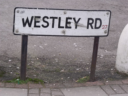 Westley Road - road sign
