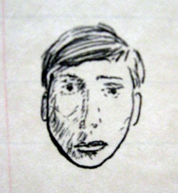 My Sketch of a Face from an Old Photo (Click to enlarge)