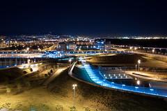 Parque Marina y Barcelona por la noche (Jordi Martin Romero) Tags: barcelona parque night marina lights luces noche long exposure bcn nocturna pro angular 1022 exposicion larga 340 dx slik viladecans 40d vilamarina